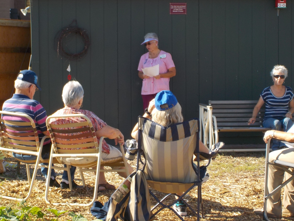 Jackie Rizzo, Master Gardener provided information all about weeds - September 2014